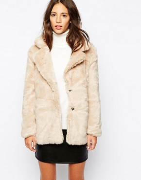 PullBear Faux Fur Coat