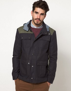 Image 1 ofASOS Anorak Jacket With Removable Hood