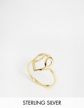 Daisy London Exclusive Laura Whitmore Gold Plectrum Ring