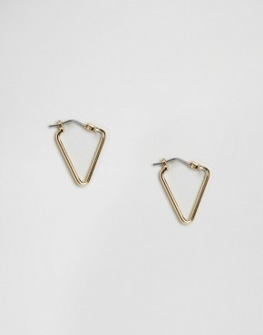 Whistles Triangle Outline Hoop Earrings