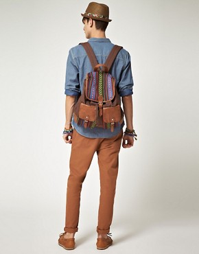 Image 3 ofASOS Aztec Patch Backpack