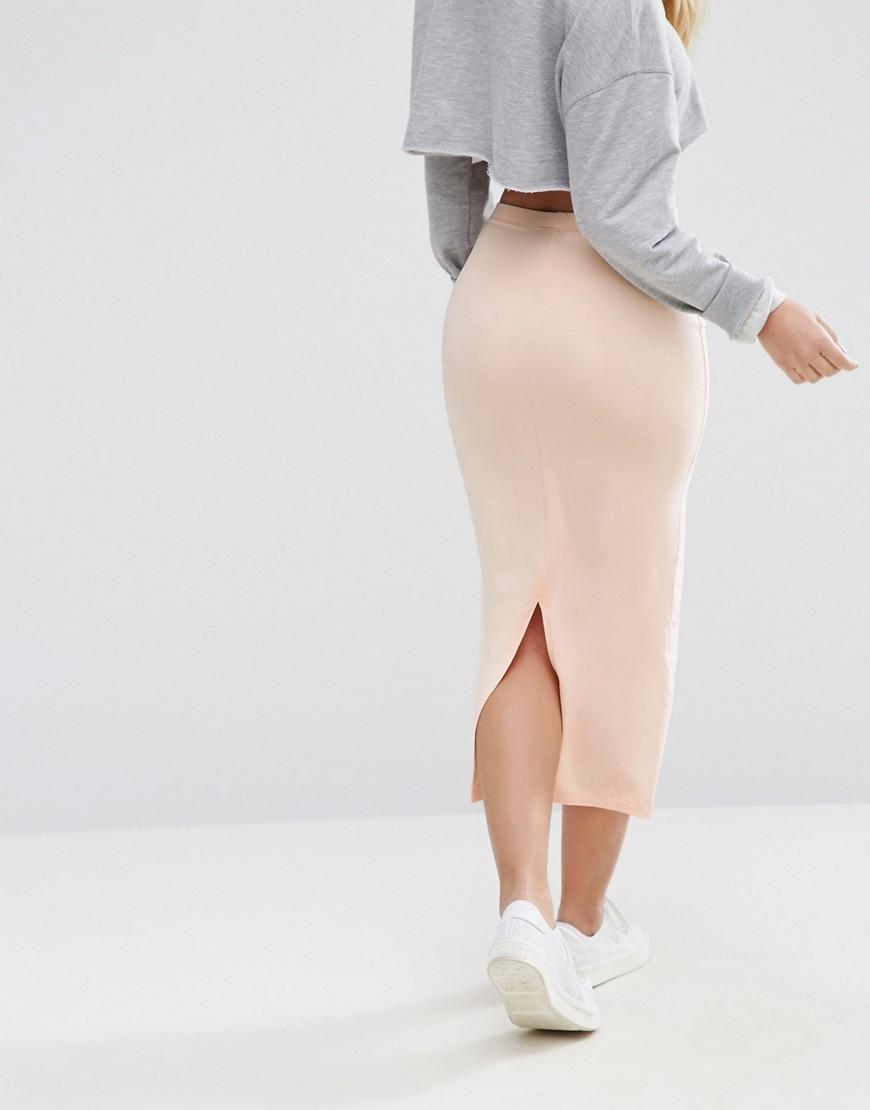 asos asos longer length midi pencil skirt at asos