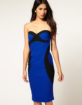 Image 2 ofHybrid Dress Bandeau with Contrast Contour &amp; Cut Out