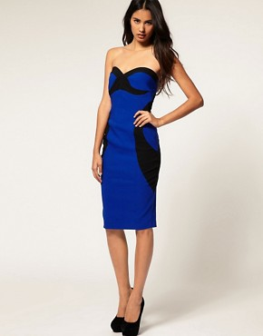 Image 4 ofHybrid Dress Bandeau with Contrast Contour &amp; Cut Out