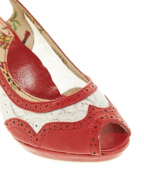 Image 3 ofMiss L-Fire Sonny Mid Heel Slingback Shoes