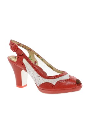 Image 1 ofMiss L-Fire Sonny Mid Heel Slingback Shoes