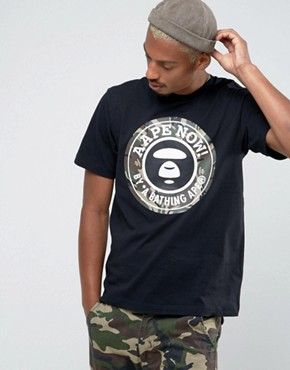 AAPE By A Bathing Ape T-Shirt With Large Camo Logo