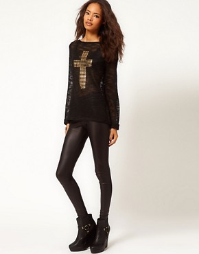 Image 4 ofASOS Jumper With Studded Cross Sign