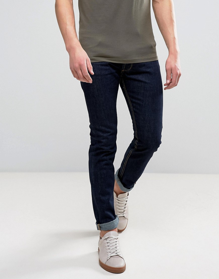 Bellfield Raw Tapered Fit Jeans - Blue