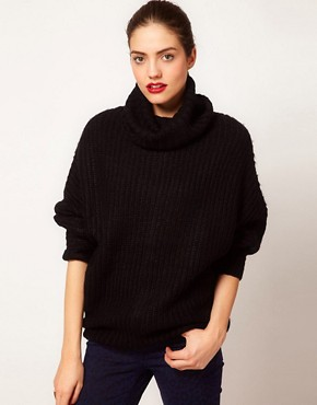 Image 1 ofVila Roll Neck Knit Slouchy Jumper