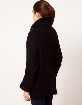 Image 2 ofVila Roll Neck Knit Slouchy Jumper