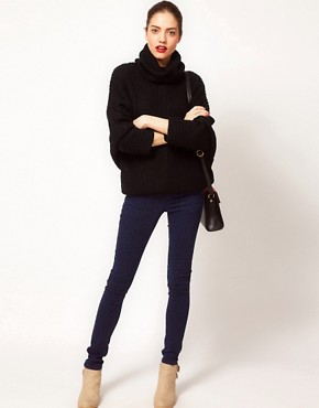 Image 4 ofVila Roll Neck Knit Slouchy Jumper
