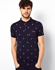 Brave Soul Rabbit Skull Polo Shirt
