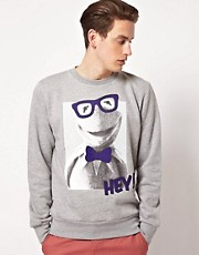 BePriv Hey Kermit Crew Neck Sweat Exclusive To Asos Uk