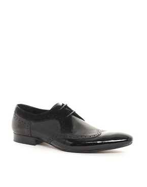 Image 1 ofH By Hudson Franklin Patent Toe-Cap Shoes
