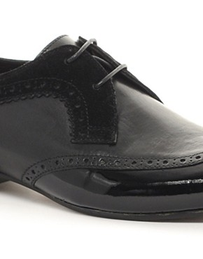 Image 2 ofH By Hudson Franklin Patent Toe-Cap Shoes