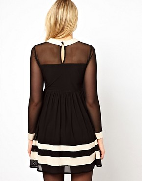 Image 2 of ASOS Maternity Skater Dress With Contrast Detail