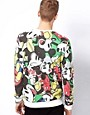 Image 2 ofASOS Sweatshirt With All Over Mickey Print