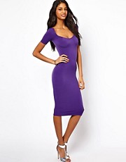 Oh My Love Midi Dress with Square Neck