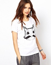 River Island Cat Moustache Tee