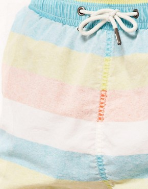 Image 3 ofRiver Island Bold Stripe Pastel Swimshort