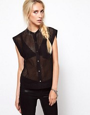 Edun Broderie Anglaise Sleeveless Shirt