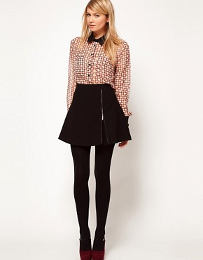 Image 1 ofASOS Mini Skirt With Zip Detail