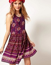 Minkpink Sleeveless Mini Dress in Bohemian Print