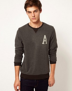 Image 1 ofASOS Sweatshirt With A Print