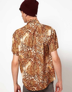 Image 2 ofReclaimed Vintage Shirt with Leopard Print