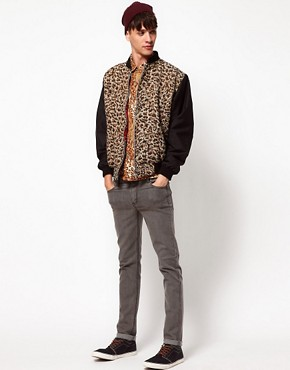 Image 4 ofReclaimed Vintage Shirt with Leopard Print