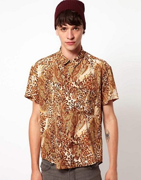 Image 1 ofReclaimed Vintage Shirt with Leopard Print