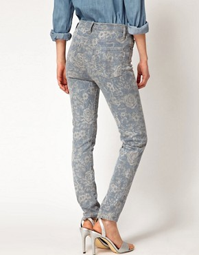 Image 2 ofCurrent/Elliott  High Waist Floral Skinny Jeans