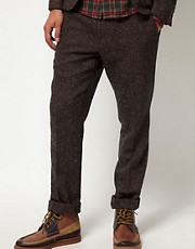 ASOS Slim Fit Suit Trousers in Fleck Herringbone
