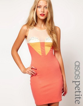Image 1 of ASOS PETITE Exclusive Dress With Embellishment