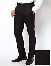 ASOS Skinny Fit Suit Trousers in Pinstripe