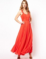 Oasis Pleated Maxi Dress
