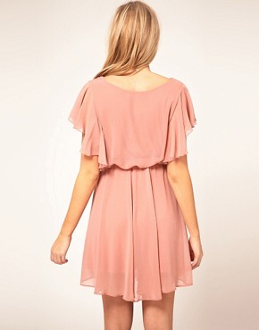 Image 2 ofASOS Maternity Exclusive Dress With Ruffle Sleeve