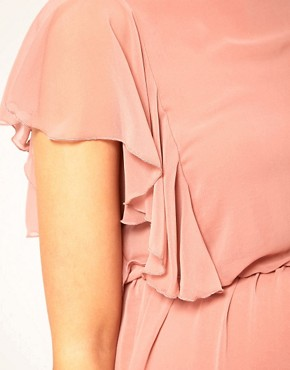 Image 3 ofASOS Maternity Exclusive Dress With Ruffle Sleeve