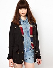 Barbour Vintage International Jacket With Union Jack Lining