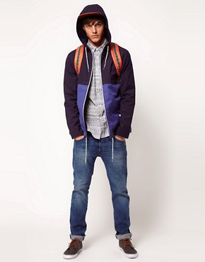 Image 4 ofASOS Anorak Jacket With Colour Block