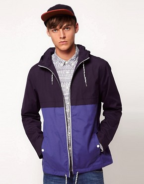 Image 1 ofASOS Anorak Jacket With Colour Block