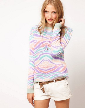 Image 1 ofASOS Pastel Animal Jumper