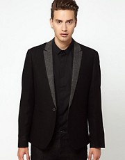 ASOS Slim Fit Blazer With Herringbone Lapel