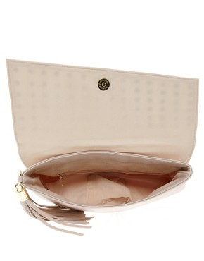 Image 2 ofASOS Stud Foldover Tassel Clutch Bag