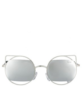 Image 2 ofQuay Silver Metal Frame Sunglasses