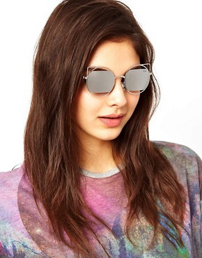 Image 3 ofQuay Silver Metal Frame Sunglasses