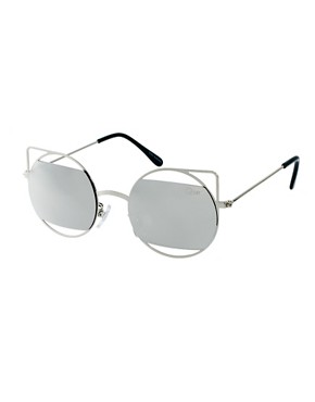 Image 1 ofQuay Silver Metal Frame Sunglasses