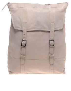 Image 1 ofASOS PREMIUM Leather Linea Rucksack
