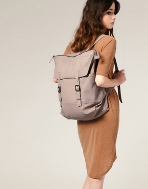 Image 3 ofASOS PREMIUM Leather Linea Rucksack